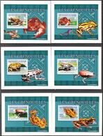 A{149} Guinea 2009 Frogs 6 S/S Deluxe MNH** - Guinea (1958-...)