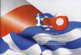 GREECE OFFICIAL FOLDER 2019/100 YEARS DIPLOMATIC RELATIONSHIPS GREEK/POLAND-30/4/19(750pcs Only!!)-VERY RARE!!! - Ongebruikt
