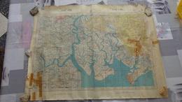 Carte Topographique D'état Major De L'Indochine Secteur Cho Long De 1951 - Topographical Maps