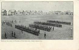 Pays Div -ref T215- Etats Unis D Amerique - United States Of America - Usa - Soldiers Parade A Fort Hancok -sandy Hook - - Etats-Unis