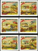 A{151} Guinea 2009 Dinosaurs 6 S/S Deluxe MNH** - Guinea (1958-...)