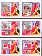 A{152} Guinea 2009 Chess Stamps On Stamps 6 S/S Deluxe MNH** - Guinea (1958-...)