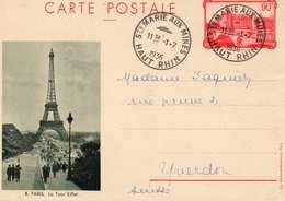 Cpa De La Conciergerie Départ De Ste Marie Aux Mines En Date Du 1.07.1936 - Postal Stamped Stationery