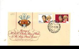 LAB695 - AUSTRALIA 1981 , Royal Wedding   Charles Diana Su FDC - Primo Giorno D'emissione (FDC)