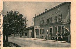 (104) CPA  Damblain Cafe Hotel De La Gare  (Bon état) - France