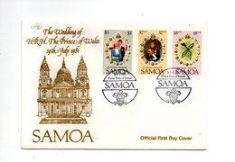 LAB696 - SAMOA 1981 , Royal Wedding   Charles Diana Su FDC - Samoa