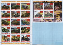 Abkhazia / Stamps / Private Issue World War II Military Transport. Motor Wenicles. Red Army. USSR. 2019. - Fantasy Labels