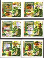 A{156} Guinea 2010 Butterflies 6 S/S Deluxe MNH** - Guinea (1958-...)