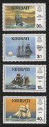 1989 Kiribati Ships Sailing Complete Set Of 4 MNH - Kiribati (1979-...)