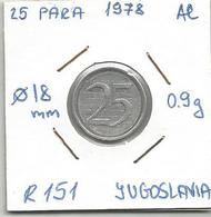 G7 Yugoslavia 25 Para 1978. R151 Unissued Probe RRR - Yugoslavia