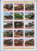 Abkhazia / Stamps / Private Issue World War II Military Transport. Motor Wenicles. USA. 2019. - Fantasy Labels