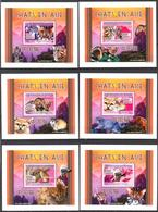 A{157} Guinea 2008 Cats Of Asia 6 S/S Deluxe MNH** - Guinea (1958-...)