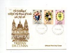 LAB700 - TRISTAN DA CUNHA 1981 , Royal Wedding   Charles Diana Su FDC - Tristan Da Cunha