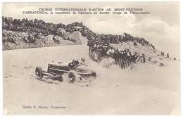 Cpa Mont-Ventoux - Course Internationale D'autos - Carracciola ... Virage De L'Observatoire ( AU ) - Postcards