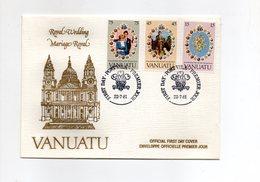 LAB701 - VANUATU 1981 , Royal Wedding   Charles Diana Su FDC - Vanuatu (1980-...)