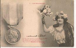 L120B241 - Les Décorations - Médaille De Sauvetage - Bergeret N°7 - Carte Précurseur - Bergeret