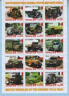 Abkhazia / Stamps / Private Issue World War II Military Transport. Motor Wenicles. Cars  2019. - Fantasy Labels