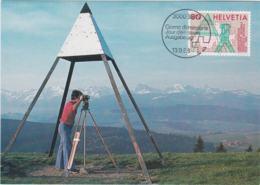 Switzerland Maxicard 1988 150 Jahre Bundesamt Für Landestopographie (T11-36) - Cartes-Maximum (CM)