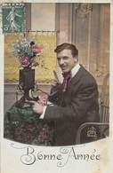PIE.LOT CH-19-4764 : AU TELEPHONE BONNE ANNEE. - Cartes Postales