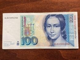 GERMANY 100 MARK 02/01/1996 CIRCULATED - [ 7] 1949-… : FRG - Fed. Rep. Of Germany