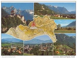 Lichtenstein Mit Landkarte / Map (D-A11) - Liechtenstein