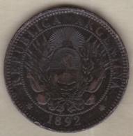 ARGENTINE / TUCUMAN. DOS CENTAVOS 1892. BRONZE - Argentine