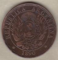 ARGENTINE / TUCUMAN. DOS CENTAVOS 1890. BRONZE - Argentinië