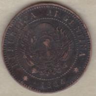 ARGENTINE / TUCUMAN . UN CENTAVO 1884. BRONZE - Argentine