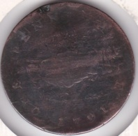 SIERRA LEONE COMPANY . 1 PENNY 1791 . BRONZE . KM# 2.1 - Sierra Leone