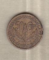 Territoire Sous Mandat De La France. Cameroun. 50 Centimes 1924. KM# 1 - Cameroun