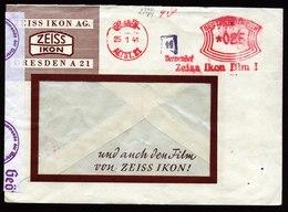 A6199) DR Auslandsbrief V. Dresden 25.01.41 Zeiss Ikon Zensur - Deutschland