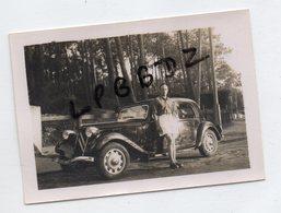 PHOTO ANCIENNE - VIEILLE AUTOMOBILE TRACTION CITROËN Et Son Propriétaire - Auto's