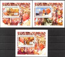 A{171} Guinea 2009 Pope John Paul II 3 S/S Deluxe MNH** - Guinea (1958-...)