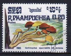 Kampuchea Single 20c Stamp From The 1985 Set Celebrating Fungi. - Kampuchea