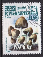 Kampuchea Single 50c Stamp From The 1985 Set Celebrating Fungi. - Kampuchea