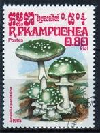 Kampuchea Single 80c Stamp From The 1985 Set Celebrating Fungi. - Kampuchea