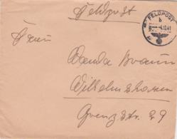 German Feldpost WW2: From Amiens In France - Infanterie-Regiment 333 (12./III)  FP 38566E P/m 4.10.19412 - Cover Only - WW2