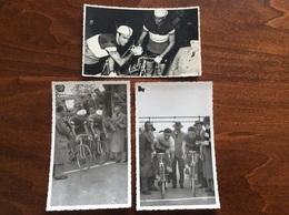 CICLISMO - 3 Cartoline Fotografiche FP BN NV - Ciclismo