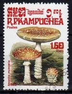 Kampuchea Single 1r 50c Stamp From The 1985 Set Celebrating Fungi. - Kampuchea