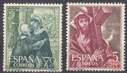 ESPAÑA - SPAGNA - SPAIN - ESPAGNE- 1962 - Lotto Di 2 Valori Nuovi MNH: Yvert 1135 E 1142. - 1931-Oggi: 2. Rep. - ... Juan Carlos I