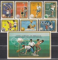 1984 LosANGELES - Nicaragua - MiNr: 2522-2528 + Block 159  **+used - Sommer 1984: Los Angeles