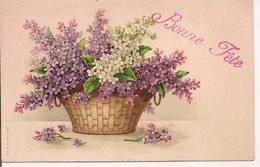 L120B255 - Bonne Fête - Bouquet De Lilas Dans Un Panier - A&MB N°430 - Other