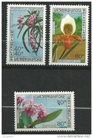 """Laos YT 247 à 249 """" Orchidées """" 1972 Neuf** MNH - Laos"""