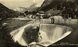 GOTTHARDBAHN STAUSEE UND KASKADE BEIN PFAFFENSPRUNG  Suiza Switzerland Suisse Schweiz - UR Uri
