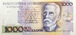 Brazil 1 Cruzado Novo, P-216b (1989) - UNC - Brazil