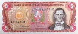 Dominican Republic 5 Pesos Oro, P-118b (1980) - UNC - Scarce Date - Dominicana