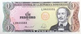 Dominican Republic 1 Peso Oro, P-126c (1988) - UNC - Dominicana