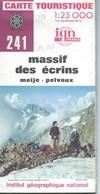Carte I.G.N. N° 241 : Massif Des Ecrins - 1 / 25 000ème - 1979. - Cartes Topographiques