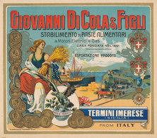 PUB  ITALIE GIOVANNI DI COLA & FIGLI    STABILIMENTO DI PASTE ALIMENTARI   TERMINI IMERESE  SICILIA   (23 CM X 20 CM ) - Publicités