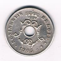 10 CENTIMES 1905 VL  BELGIE /4203/ - 1865-1909: Leopold II